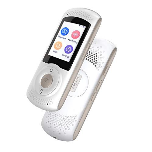 WEIKIN Portable Voice Translator Simultandolmetscher - 2.0 Zoll Touch Screen sofortige Sprachübersetzung - 45 sprachiges Elektronisches Wörterbuch