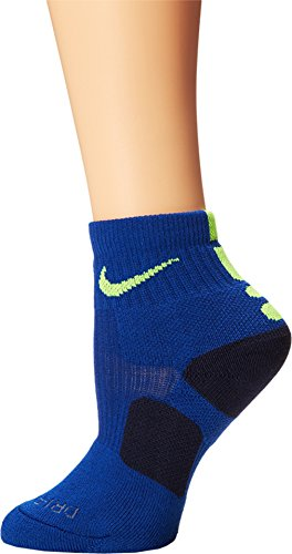 Quarter Basketball Socks (SM (Womens Shoe 4-6), University Blue (472) / Obsidian/Volt) ()