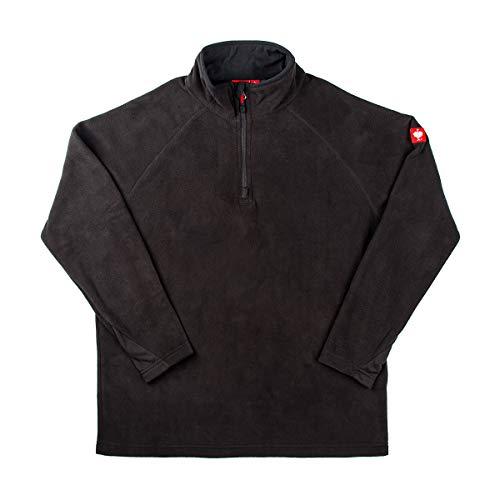 Engelbert Strauss Herren Fleecepullover Troyer dryplexx Micro, Farbe:schwarz, Größe:XL