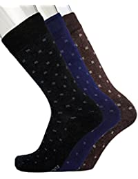 Blacksmith 100% COTTON FORMAL SOCKS FOR MEN IN ASSORTED COLORS (PACK OF 3) 1B