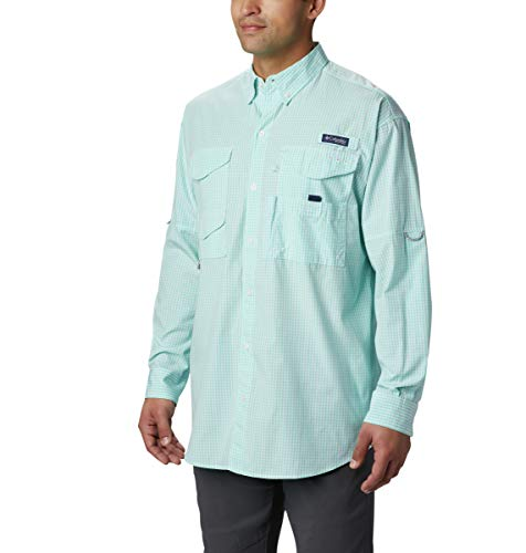 Columbia Herren Super Bonehead Classic Big & Tall Long Sleeve Shirt, Herren, Super Bonehead ClassicTM Long Sleeve Shirt, Gulf Stream Gingham, XX-Large Tall (2012 Langarm)