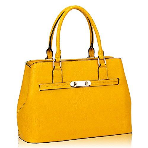 HB Style ,  Damen Mädchen Tasche im Designer-Stil gelb