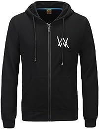 Xcoser Herren Kapuzen pullover Hoodie Schwarz Jacke Baumwolle Sweatshirt DJ Cosplay Kostüm Top Kleidung für Frühling und Herbst