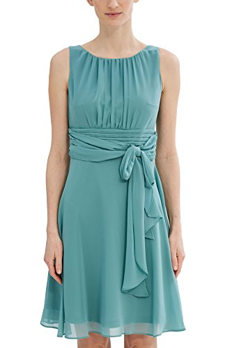 ESPRIT Collection Damen Kleid 027EO1E005, Grün (Dusty Green 335), 38