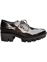 HIP - Zapatos de Cordones de Charol para Mujer Marrón marrón