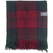 The Tartan Blanket Co. Couverture de genou en laine recyclée – style tartan  écossais Lindsay 5b2c49b2dfd