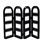 2/4 Doors Earring Jewelry Show Clear Plastic Display Rack Necklace Bracelet Stand Foldable Organizer Holder