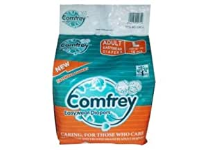 Comfrey dippers Adult Pant Type Easy Wear Diapers (Large, 30-39 Inches) - Pack of 10
