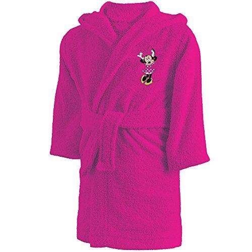 CTI - Disney - Peignoir Minnie Cœur 2/4 Ans 100% Coton, Rose, 60 x 38 cm