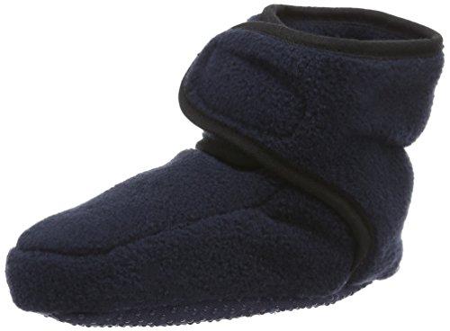 Playshoes Baby-Schuhe aus Fleece, Krabbelschuhe für Mädchen und Jungen mit rutschhemmender Noppen-Sohle, Blau (marine), 20/21 EU -