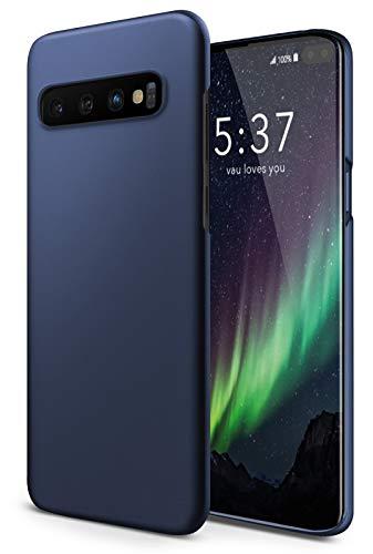 vau Hülle passend für Samsung Galaxy S10 Plus - Slim Shell Case Handyhülle Schutzcase dünn blau