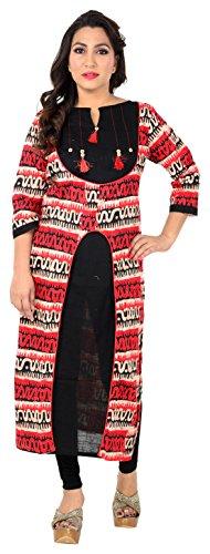 Kavya Fashion Women's Rayon Achkan Kurta (KAVYA_015--XX-Large, Multi-Coloured, XX-Large)