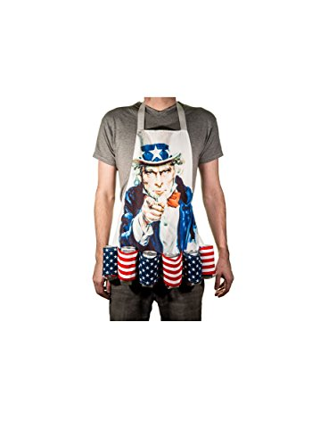 Calhoun Sportswear Uncle Sam Fourth of July Beer Belt Apron Standard 1d259bca9