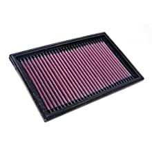 K&N Engine Air Filter: High Performance, Premium, Washable, Panel Replacement Filter: 1998-2010 (Swift III, 323 VI), 33-2824