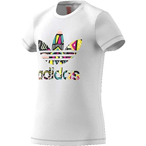 Adidas originals t-shirt slim ragazza slim bianca taglia 13-14 a cod ed7871