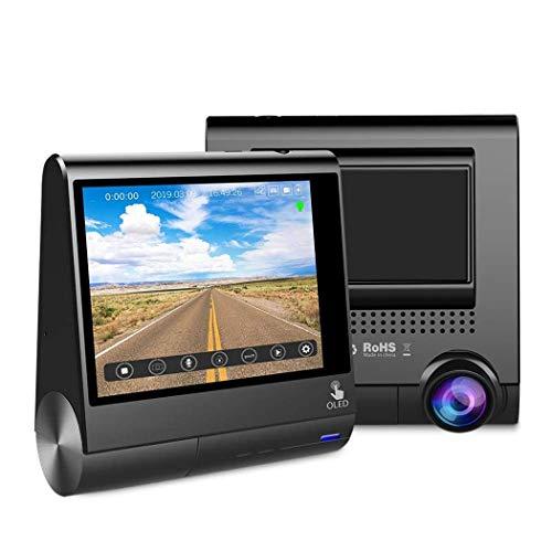 SHL CAR 3 Zoll OLED Touchscreen Auto DVR Recorder Dash Cam mit GPS Fahrzeug Rückfahrkamera Camcorder Nachtsicht Dashcam Gps-software Dash