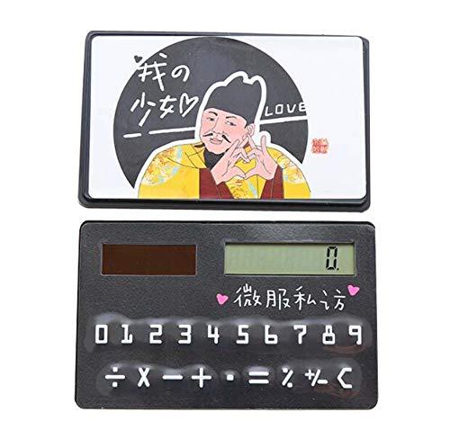 Mini Thin-Kartenart Solarrechner, kreativer tragbarer kleiner Rechner, 05