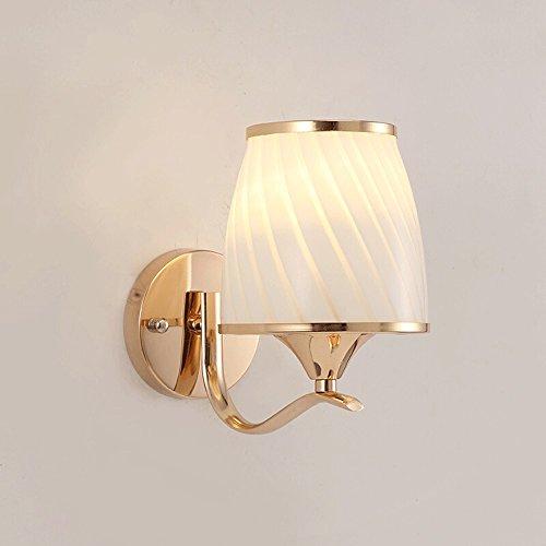 Nordic Mini LED Wandleuchte, European Village Gold Glas Metall Wandbehang Lampe Moderne minimalistische Schlafzimmer Wohnzimmer Korridor Wandleuchte Kreative Studie Treppe Gang Kleine Wandleuchte