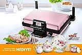 Silex | Multigrill | Toaster | Lahmacun | Aus Edelstahl | 34cm x 22cm | Rosa | Korkmaz Tee-Set als Gratisprodukt!!