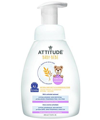 attititude-piel-sensible-bebe-espuma-de-botella-de-natural-y-lavar-platos