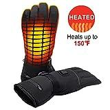 L&Z Elektrisch Beheizte Handschuhe, Winddicht Akku Beheizt Handschuhe Warm Winter Outdoor Sports Handschuhe Handwärmer für Unisex Wandern Klettern Skifahren.