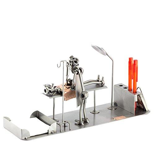 enmännchen Op-Tisch Schreibtisch Organizer I Made in Germany I Handarbeit I Geschenkidee I Stahlfigur I Metallfigur I Metallmännchen ()