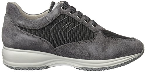 Geox U Happy Art. G, Sneakers Basses Homme Gris (Anthracitec9004)