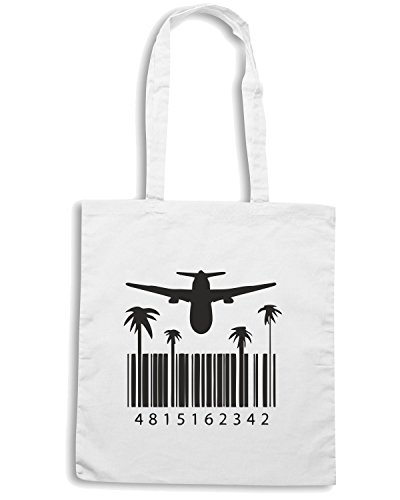 T-Shirtshock - Borsa Shopping OLDENG00045 dharma code Bianco