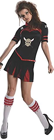 Freitag der 13. Kostüm Set Damen 3-tlg Korsett Oberteil Mini Rock Jacke (Jason Kostüm Freitag Der 13.)