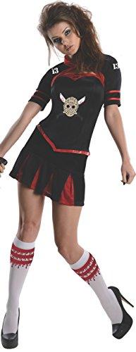Freitag der 13. Kostüm Set Damen 3-tlg Korsett Oberteil Mini Rock Jacke
