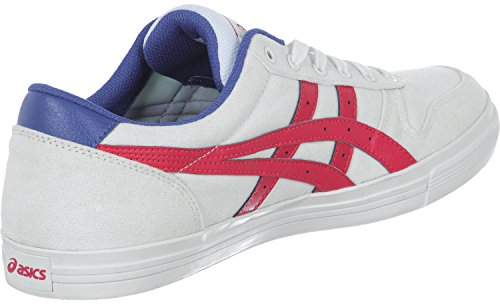 Asics Aaron, Baskets Basses Mixte Adulte white-classic red