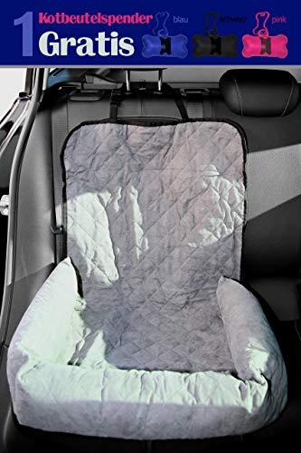 Autositzauflage Hund - Schutz für Vorder- oder Rücksitz - leicht zu befestigen - Das Hundebett fürs Auto - Lehnenschutz - Waschmaschinen geeignet
