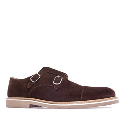 Andres Machado.6164.Chaussures Style Oxford Cuir Suède .pour Hommes.Grandes Pointures du 47 au 50.Made in Spain