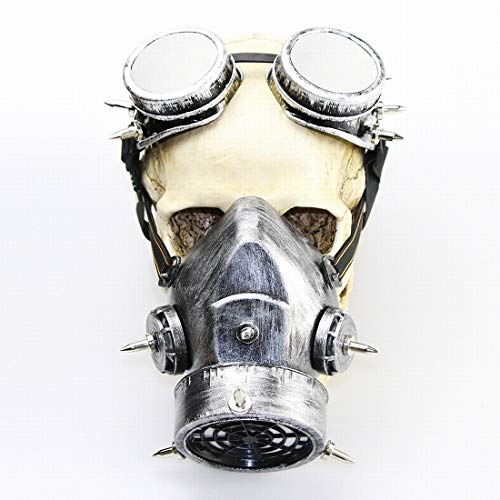 Olprkgdg Halloween Retro Gothic Maske Make-up Steampunk Gasmaske für Cosplay-Party (Color : 1)