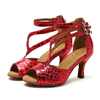 Silence @ Chaussures de danse pour femme synthétique synthétique latine/Jazz Sandales/talons Stiletto Talon professionnel/intérieur/Performance argenté