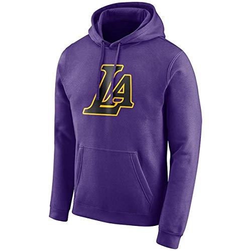 HMen's Hoodie Los Angeles Lakers Langarm Lila Freizeit Sweatshirt Logo Sport Hoodie T-Shirt für den täglichen Gebrauch und Basketball spielen gemacht