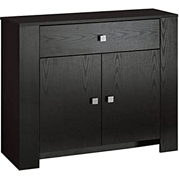 Sideboard Or Cupboard Black Ash 2 Door 1 Drawer Dresser Cabinet Storage Unit