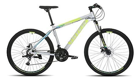 SALES Mens 26'' Mountain Bikes Bicycles 21 Speeds SHIMANO aluminium Frame (Grey)