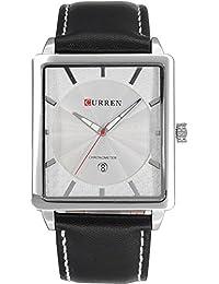 ufengke® mode rechteck wahlkalender wasserdicht quarz armbanduhren für männer jungen schüler-weiß