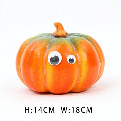 Halloween Simulation Lächeln Gesicht Größe Kürbis Lichter Halloween Horror Dekoration Nette Pastoral Wind Ornamente ( Size : Medium ) (Aufblasbare Freien Im Halloween-dekoration)