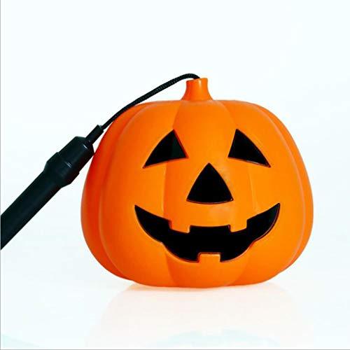 MYYDD Halloween-Kürbis-Leuchten Tragbare Kürbis-Eimer Kunststoff-Kürbis-Lampe Ghost Head Dekoration Kinder-Performance-Requisiten,M (Kunststoff Kürbis Eimer)