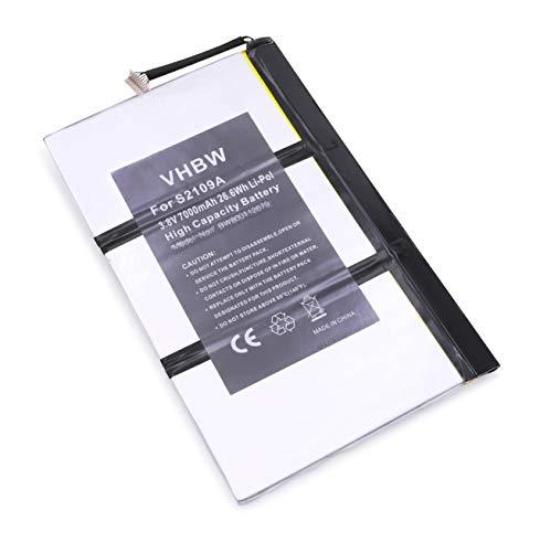 vhbw Li-Polymer Akku 7000mAh (3.7V) für Tablet Netbook Pad Medion LifeTab P9516, S9512 wie 11S73041798, 40042073, u.a. (Akku-packs Für Tablets)