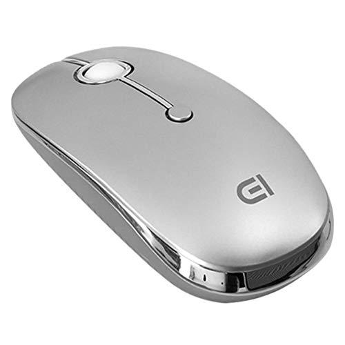 Chidjon Mouse Wireless D i331D Wireless 2,4 GHz USB + Typ C + Bluetooth 4.0 3ModusMaus 3 Gänge 2000 DPI einstellbare tragbare Mäuse für Telefon Tablet PC (Silber) -