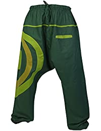 Guru-Shop Goa Pluderhose, Aladinhose - Coffee, Herren, Braun, Baumwolle, Size:50, Männerhosen Alternative Bekleidung