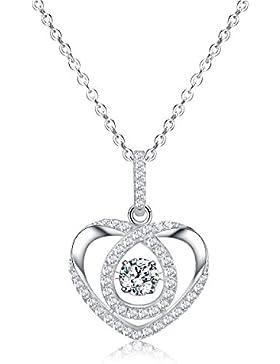 Sable Damen Halskette mit Herz Anhänger