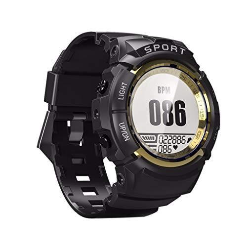 LRWEY Fitness Smart Watch, Männer Sport Smart Watch IP68 Wasserdicht Fitness Tracker Dynamische Herzfrequenz Kompass Stoppuhr Wecker Smartwatch, für Android iOS