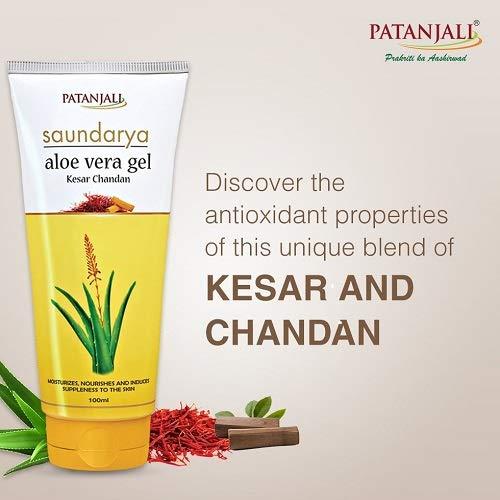 Patanjali Saundarya Aloe Vera Gel with kesar chandan, 150 ml
