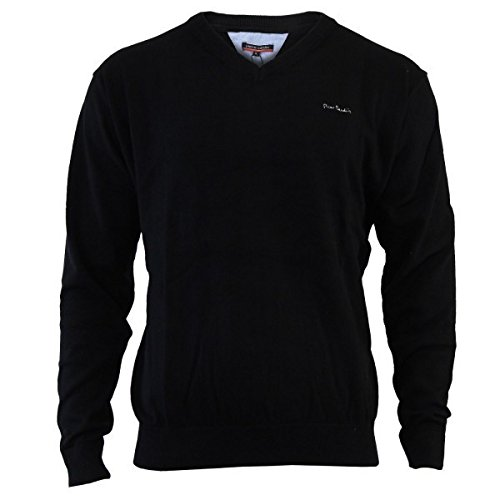 pierre-cardin-v-neck-pull-over-m-noir