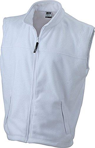 Fleece Weste in vielen Farben (S - 4XL) im digatex-package White