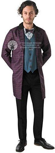 Herren Dr Doctor Who TV futuristisch Kostüm Kleid Outfit STD & XL - Lila, X-Large (Futuristisches Kostüm)